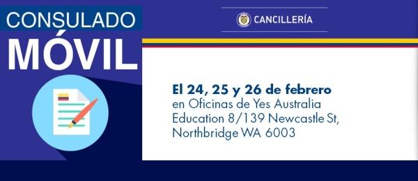 Consulado de Colombia en Canberra realizará el Consulado Móvil en Perth el 24, 25 y 26 de febrero