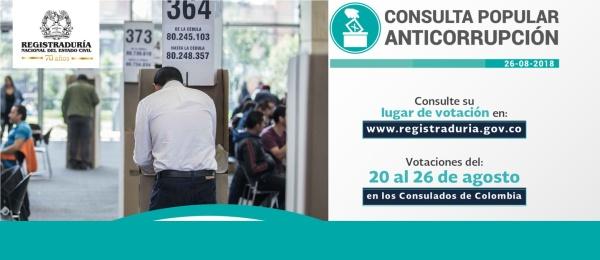 Puestos de Votación en Canberra, Melbourne y Perth de la Consulta Popular Anticorrupción