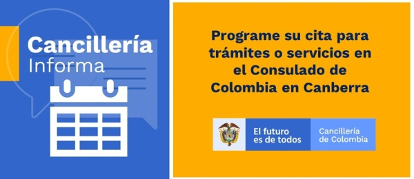 Programe su cita para trámites o servicios en el Consulado de Colombia